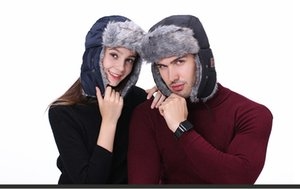 Musique Bluetooth gros épais Hat casque Hat hiver chaud épais velours Bluetooth plus Chapeau du Nord-Est Ski Cap M111230