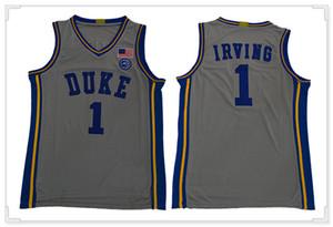 رجل ديوك الزرقاء الشياطين Kyrie # 1 ايرفينغ بروكلين 11 LA الكلية الأمريكية فريق 24BYRANTJerseys كرة السلة الموحدة خياطة القمصان قمصان رياضية