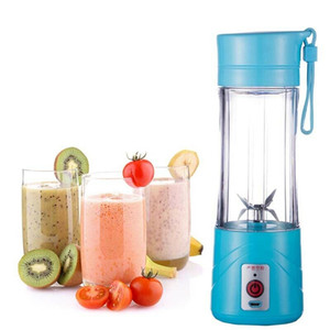 380ml 6 Lames Mini portable légumes électrique Fruit Juicer USB rechargeable Smoothie Maker Blender Sport Machines Bouteille Coupe Juicing