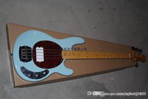 무료 배송 재고 스카이 블루 2014 새로운 고품질의 도착 뮤직 맨 스팅 레이 4string 전기베이스 기타