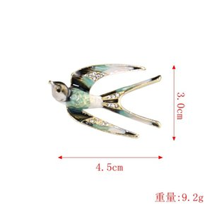 Swallow Brooch Female Accessories Enamel Corsage High-End Simple Sweater Pin Korean Luxury Atmosphere Gift