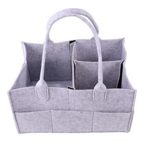 Reisen Mommy Bag Filz Baby-Windel-Caddy Tragbare Babytote-Organisator-Speicher-Korb (hellgrau)
