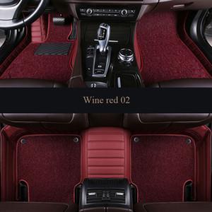 Alfombras 3D aptas para el coche a medida Nissan CTR LANNIA altima Rouge X-trail Murano Sentra Sylphy Tiida estilo de automóvil Alfombra de aviación