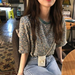 Newest 2019 Sexy Fashion Summer Womens Casual Round Neck Letter Print Short Sleeve Polyester Loose Pullover Simple T Shirt 2019.7.2
