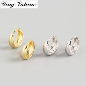 ying Vahine 100% 925 Sterling Silver Geometric Rodada brincos por Mulheres Moda Jóias melhores presentes