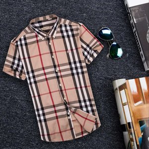 Camicia da uomo a manica lunga da uomo business casual a righe slim fit da uomo sano sano social shirt M-4XL # 360