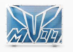 Coolant moto Refit Réservoir d'eau Garde réservoir Couverture pour Mt -09 Fz -09 Bleu