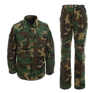 Men's Long Sleeve Shirt and Pants Set Outdoor Tactical Army Uniform for Combat Hiking Training