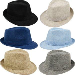 Erkek Kadın Yaz Plaj Şapka Güneş Ekran Keten Fedoras Açık Seyahat Şapkalar Yeni Geliş