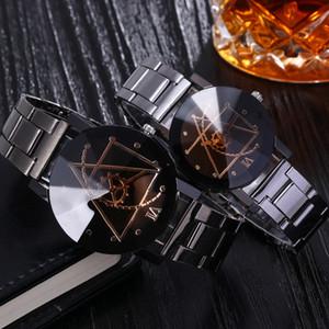 Patlama Modelleri! Çift sevgilisi çifti saatler elektronik hediye öğeleri Ünlü Moda Lady Kraliyet Markalı dişli kutusu ile saatler