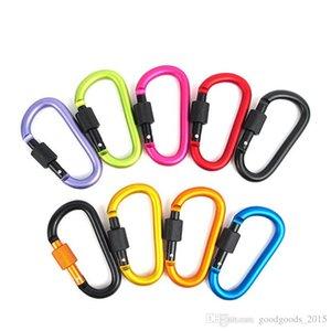 8 cm Alüminyum Alaşım Karabina D-ring Anahtarlık Klip Çok Renkli Kamp Anahtarlık Snap Kanca Açık Seyahat Kiti QuickDraws DLH056