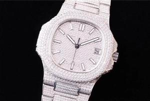5719 montre enchido diamante relógio Cal.324 SC movimento mecânico automático relógios dobrar designer relógios fivela