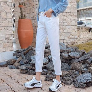 Cotton white black 2020 spring new beige blue hot sale jeans woman high waist skinny jeans woman plus size mom
