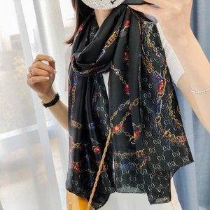 Ms alta calidad bufandas de cachemira de moda de lujo de tamaño bufanda pañuelos de seda 180 x90cm no ms caja bufanda del diseño