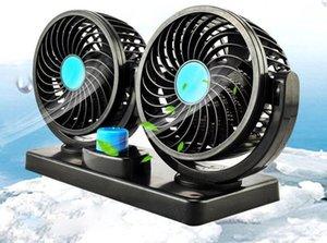 Ventilateur de voiture, voiture à double tête 12V / 24v van petit camion à l'intérieur de la réfrigération puissant grand ventilateur de voiture