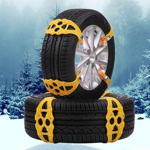 2pcs автомобильных шин Snow Chain Регулируемый Offroad SUV Авто Зима Mud Антипробуксовочная Anti-Skid Сафть Emergency безопасность шины колесо ТП плетеного пояс