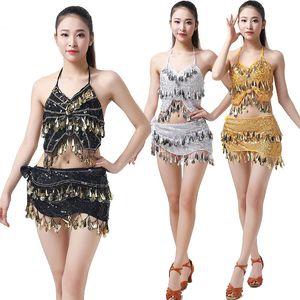 Sequin DS Jazz Belly Dancing Costume Sexy Bra Belt Two-piece Suit Stage Competition Ballroom Nightclub Uniform Pole Dance Wear
