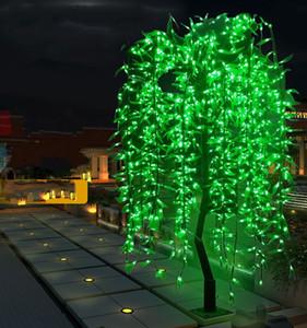 2 m de altura LED artificial sauce que llora Árbol de luz LED uso al aire libre 1152 a prueba de lluvia de Navidad decoración del árbol de decoración de jardín de hadas