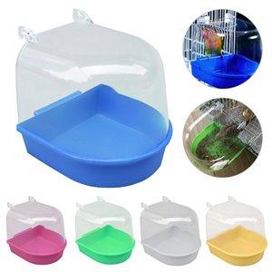 PAPASGIX 2020 NEW Small Bird Water Bath Tub For Pet Birds Cage Hanging Accessory Bowl Birdbath
