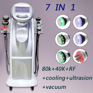 2020 Новый 80K + 40k Ультразвуковая кавитация Вакуумный многополярного тела Face RF Замороженный Ультразвуковая волна красоты машина для похудения
