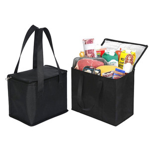Lunch Cooler Bag Insulation Folding Picnic Portable Ice Pack Food Thermal sack Food Delivery Bag Drink Carrier Insulated Bag