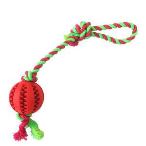 Животные износостойких Малый животных Зоотовары Укус собаки Хлопок Веревка Rubber Кинологический Бал Cotton Rope Арбуз мяч