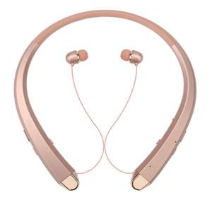 LG HBS910 iPhone X 8 Samsung S8 S9 + için 100pcs HBS 910 HBS910 Kablosuz Sport Gerdanlık Kulaklık In-kulak Kulaklık Bluetooth Stereo Kulaklık
