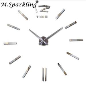 Nouveau Grand Horloges Murales Décoratives Bricolage Horloges Salon reloj murale Horloge Murale Autocollant