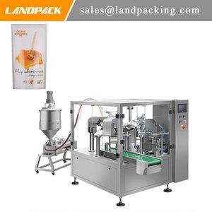 Çok Fonksiyonlu Otomatik Bal Yukarı Kılıfı Dolum Stand Ve Kapama Makinesi Bal Doypack Packaging Machine İçki