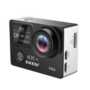 EKEN H6s EIS 4K Wifi Sport Action Camera 170 car Degree Wide Angle Fisheye Lens HD OLED Dual Screen - Black