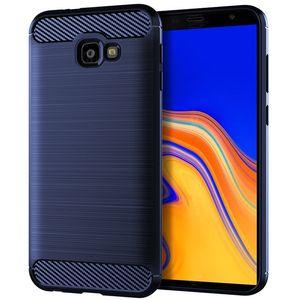 Für Samsung-Galaxie A9 2018 Carbon-Faser-Ziehfläche weicher Silikon-Telefon-Abdeckung Fall für Samsung-Galaxie A6s J2 Kern