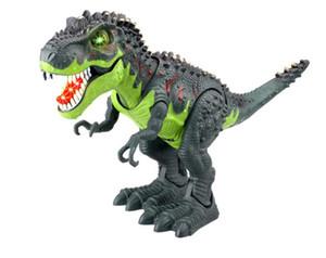 Dinosaur simulato elettrico Toy Model Tyrannosaurus giurassico dinosauro Modello di camminare giocattolo per bambini Tyrannosaurus