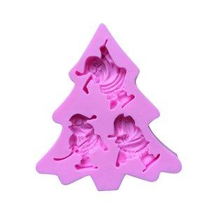 Noel Baba Silika Jel Arama Şeker Kalıp Diy Pişirme Pasta Dekorasyon Çikolata Kil Tutkal Kalıp