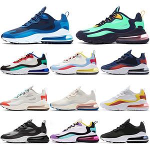 Nike air max 270 React  Çorap ile Tasarımcı React BAUHAUS Koşu ayakkabıları erkekler kadınlar için OPTIK Bej SAĞ KESICI HYPER JADE Pembe erkek eğitmenler spor ayakkabı 36-45