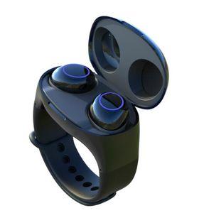 TWS Touch wireless Bluetooth 5.0 Earphones HM50 wrist Watch headphones In-Ear Earbuds Mini headset Sound Sport portable charging box
