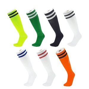 Professional sports Men Women Kids boys thick breathable Tennis Running Soccer Stockings Socks Knee High Football stripe Socks