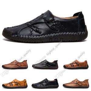Yeni El seti ayak İngiltere bezelye ayakkabı deri erkek ayakkabıları düşük büyük boy 38-48 Onbeş erkekler rahat ayakkabılar dikiş