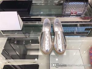 2020 Faltige Lackleder Fischer Schuhe Dame Cattle Farbanstrich Leder mit reinen Hand - made Stroh Nähen Schuhen