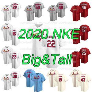 Jack Flaherty 2020 Büyük 6XL Paul Goldschmidt Marcell Ozuna Wong Yadier Molina Edman DeJong Hudson Carpenter Wainwright Formalar için Tall S