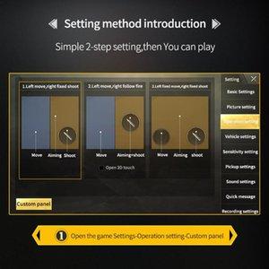 D9 Mobile Game Gamepad gatilho para PUBG Gaming fogo Joysticks Tiro Botão Game Fire controlador Games Artefato para o telefone