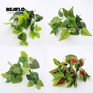 1 Mung hojas de frijol Plant Floristry planta de la flor artificial Pc Arrangement boda decorativo 14 Estilo