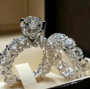 Элегантное кольцо с цирконом в виде обручального кольца серебряного цвета для женщин