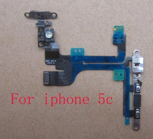 For Iphone 4 4S 5 5S 5C 6 6+ 6S+ 6s Plus 5.5 Inch Power Button Flex Cables Replacement Repair Parts with ESD package 6 month warranty 50pcs