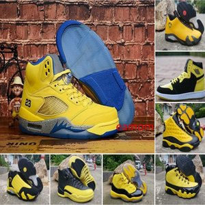 Big Sale 9 11 12 13 Basketball-Schuhe Hummel Gelb Schwarz Trophy Room Internationale Designer 9s 11s 12s 13s Mens Sports Designer-Turnschuhe
