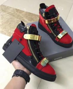 Erkekler tasarımcı sneakers ZIP rahat ayakkabılar hakiki deri dantel-up yüksek üst yılan derisi çift fermuarlı daireler zapatillas homme 35-47