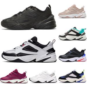 Nike m2k tekno Tasarımcı Spor M2K Tekno Womens siyah beyaz turuncu Ayakkabı Elektrik Volt kabartılmış Denim Saf Platin makale Bej Mor Sneakers Running