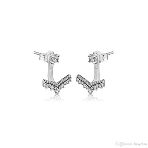 Compatible with Pandora earrings 925 Sterling Silver Princess Wish Stud Earrings For Women European Style Jewelry Original Fashion Charm