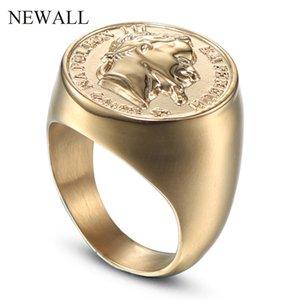 modo dell'anello di figura statua alta qualità CXQNEWA gioielli anello grande formato degli uomini punk dell'acciaio inossidabile di vendita calda accessorio anello maschile