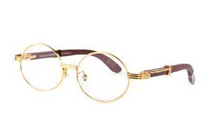 상자 Lunettes 2020 패션 스포츠 검은 물소 뿔 안경 남성 라운드 서클 렌즈 나무 프레임 안경 여성 무테 선글라스