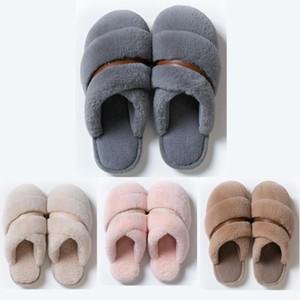 Superiore non di marca Inverno Slipper donne uomini pelliccia sandali Tripla Rosa Blu Indoor Home pattini tenere in caldo gomma Sandali piatti 37-45 Style 8
